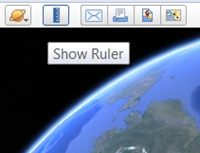 Click the Ruler icon above the main image window, then choose the Path tab, and Nautical Miles from the pull-down menu.