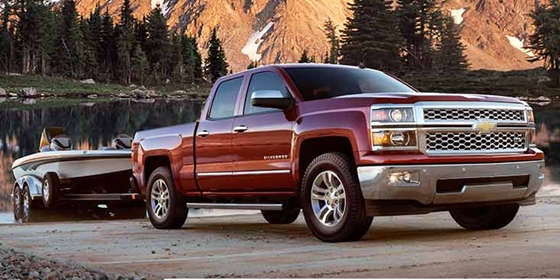 It's nice to have a way to get from the cab of the truck to the truck bed, and then to the trailer and back, without getting your feet wet. Running boards provide that path. Photos courtesy of Chevrolet.