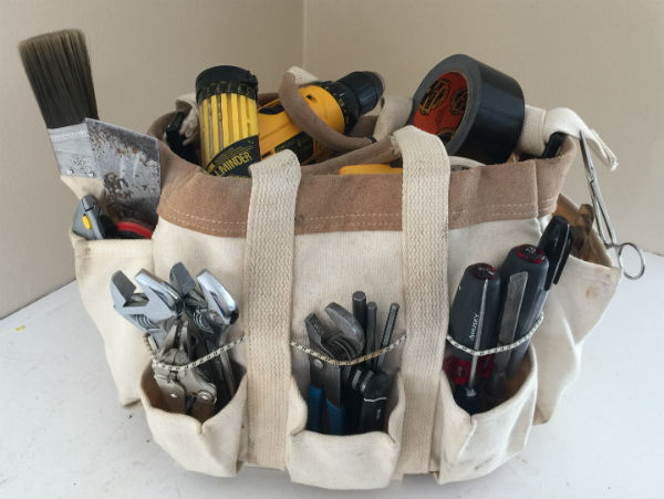 A soft-sided toolbag won't damage gelcoat or woodwork, and side pockets make it easy to grab tools.