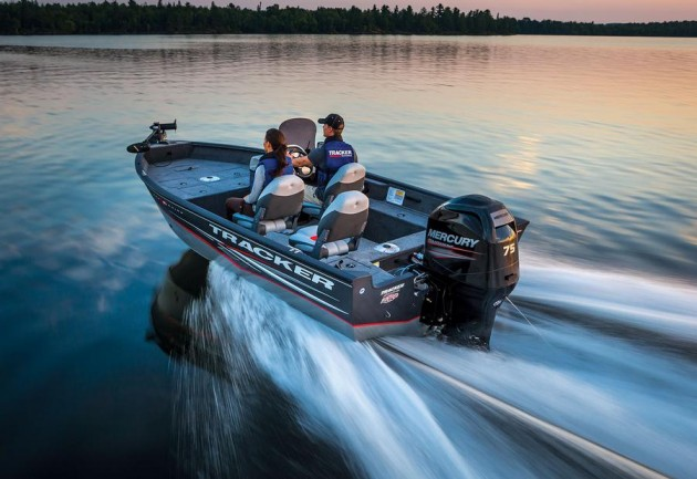 The Tracker Pro Guide V-16 is a great example of a common aluminum fishing boat.