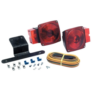 LED trailer lights are superior to the old incandescent type, which almost always require a bulb replacement when the housing leaks.