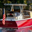 The Vanquish 24 Center Console is an inboard with graceful lines -- flare forward and plenty of tumblehome aft.