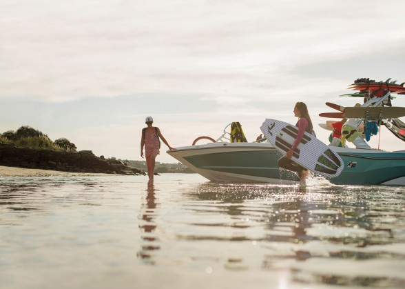 The XT line fits between MasterCraft's entry-level NXT segment, which includes 20- and 21-foot models, and the line-topping X series. The XT23 slots in at the top of the mid-line boats, as it's $101,190 price tag would indicate.